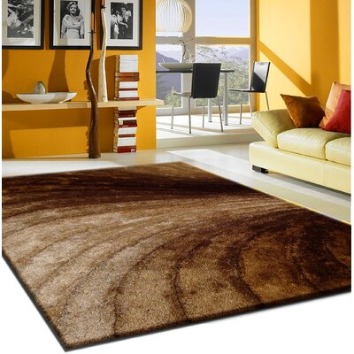 Pavonia Hand-Tufted Brown Area Rug Rug Size: Rectangle 76 x 103
