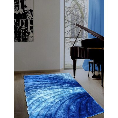 Pavonia Hand-Tufted Blue Area Rug Rug Size: Rectangle 76 x 103