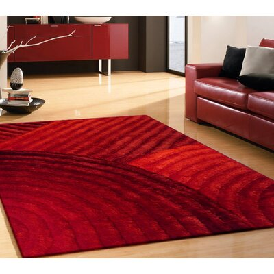 Cropper Hand Tufted Red Area Rug Rug Size: Rectangle 76 x 103
