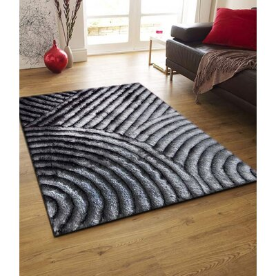 Cropper Hand Tufted Gray Area Rug Rug Size: Rectangle 5 x 7