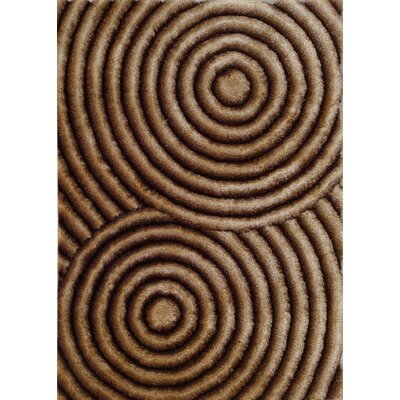 Hand-Tufted Gold/Brown Area Rug