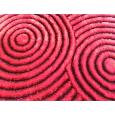 Halter Shaggy Hand-Tufted Red Area Rug Rug Size: Rectangle 5 x 7