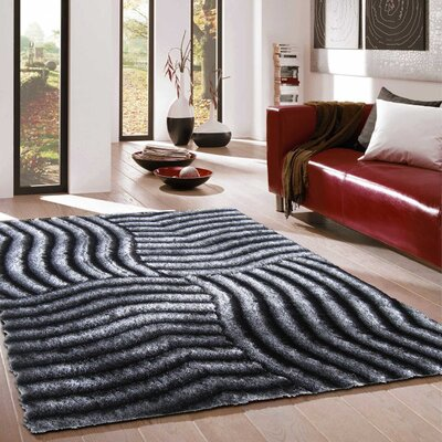 Pavonia Hand-Tufted Gray Area Rug Rug Size: Rectangle 76 x 103
