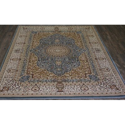Bonifacio Traditional Contemporary Oriental Blue Area Rug Rug Size: 53 x 75