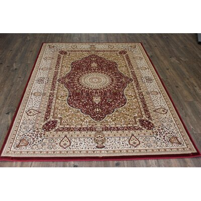 Bonifacio Traditional Contemporary Oriental Red Area Rug Rug Size: 710 x 106