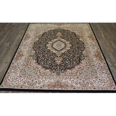 Bonifacio Traditional Contemporary Oriental Black Area Rug Rug Size: 710 x 106