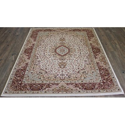 Bonifacio Traditional Contemporary Oriental Cream Area Rug Rug Size: Rectangle 710 x 106