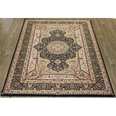 Linde Brown/Black Area Rug Rug Size: Rectangle 710 x 106