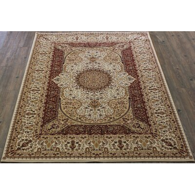 Tabriz Red Indoor/Outdoor Area Rug Rug Size: 5 x 8