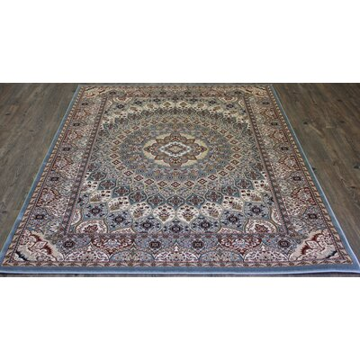Linde Contemporary Oriental Blue Area Rug Rug Size: Rectangle 710 x 106