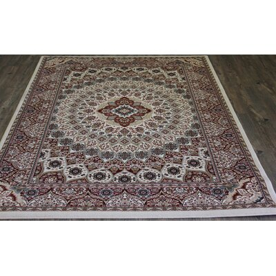 Linde Oriental Cream Area Rug Rug Size: Rectangle 710 x 106