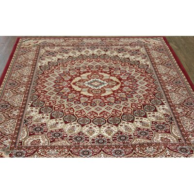 Linde Oriental Red Area Rug Rug Size: Rectangle 54 x 75