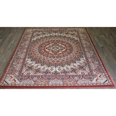 Linde Oriental Red/Beige Area Rug Rug Size: Rectangle 54 x 75