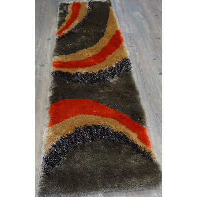 Hand-Tufted Brown/Orange Area Rug