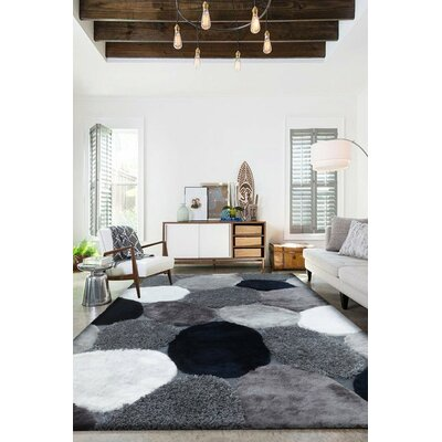 Hand-Tufted Gray/Navy Area Rug