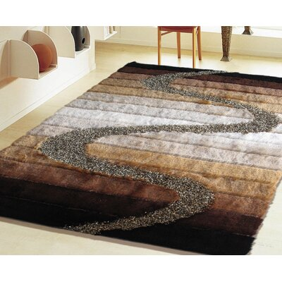 Hand-Tufted Brown Area Rug