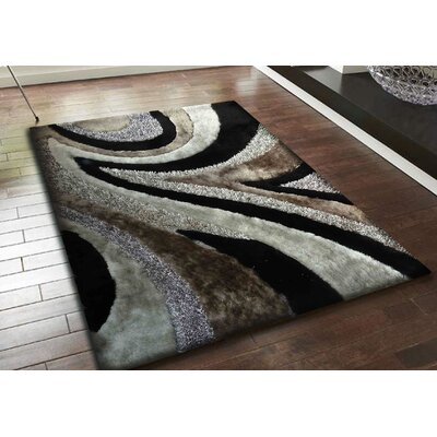Hand-Tufted Gray/Black Area Rug