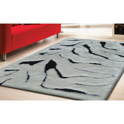 Hand-Tufted White/Black Area Rug