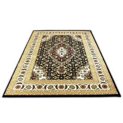 Linde Black/Beige Area Rug Rug Size: Rectangle 54 x 75