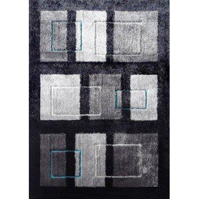 Lola Hand-Tufted Black/Gray Area Rug