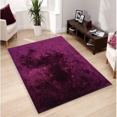 Pattison Hand-Tufted Magenta Area Rug Rug Size: Rectangle 76 x 103