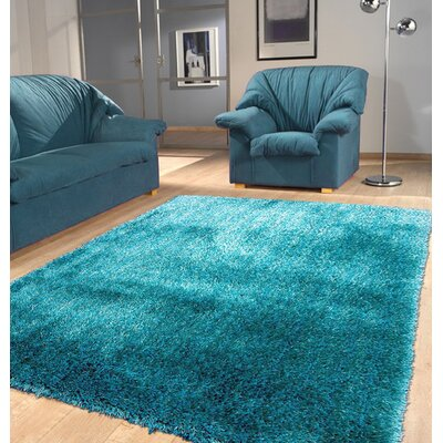 Port Pirie Shag Hand Tufted Turquoise Area Rug Rug Size: Rectangle 5 x 7