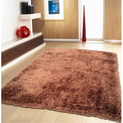 Port Pirie Shag Hand Tufted Brown Area Rug Rug Size: Rectangle 5 x 7