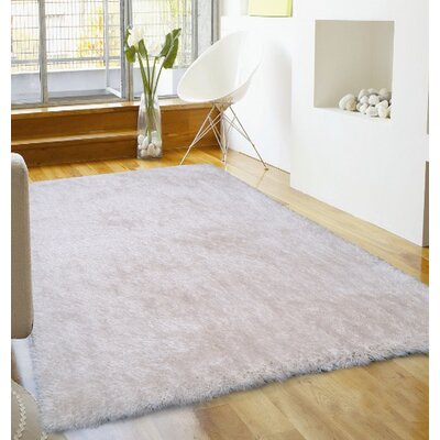 Port Pirie Shag Hand Tufted Off-white Area Rug Rug Size: Rectangle 5 x 7
