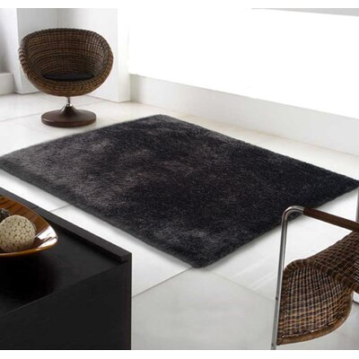 Port Pirie Shag Hand Tufted Black Area Rug Rug Size: Rectangle 5 x 7