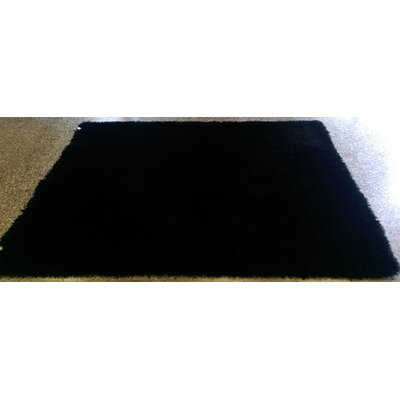Shaggy Hand Tufted Black Area Rug