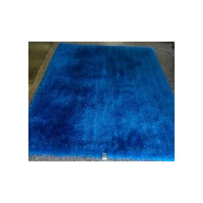 Shaggy Hand Tufted Blue Area Rug