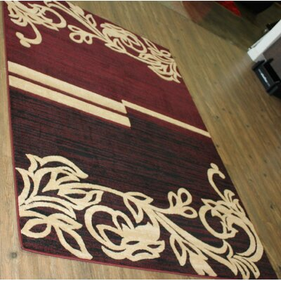 Temaraia Burgundy Area Rug Rug Size: Rectangle 5 x 8