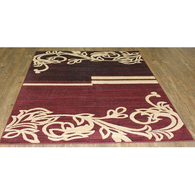 LifeStyle Burgundy/Beige Area Rug