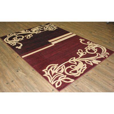 Yalamanchili Burgundy/Beige Area Rug