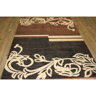 Temaraia Brown/Black Indoor Area Rug Rug Size: Rectangle 5 x 8