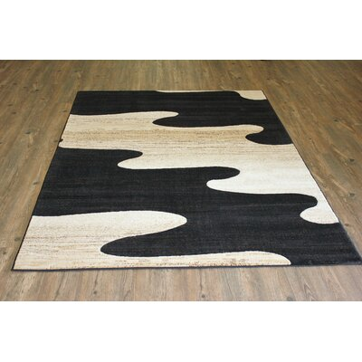 Brawley Black/Beige Indoor Area Rug Rug Size: Rectangle 5 x 8