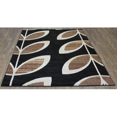 LifeStyle Black/Beige Area Rug