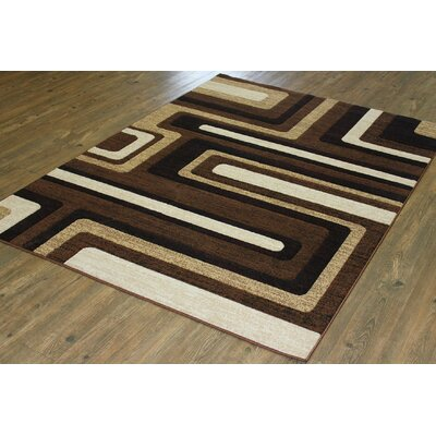 Yarbro Brown Indoor Area Rug Rug Size: Rectangle 5 x 8
