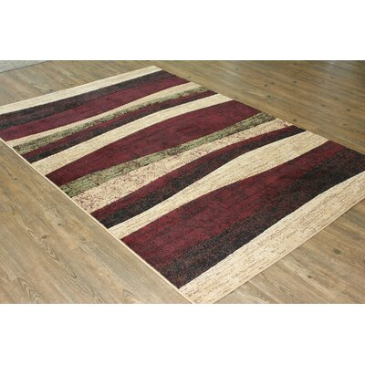 Yarbro Burgundy Area Rug Rug Size: Rectangle 5 x 8