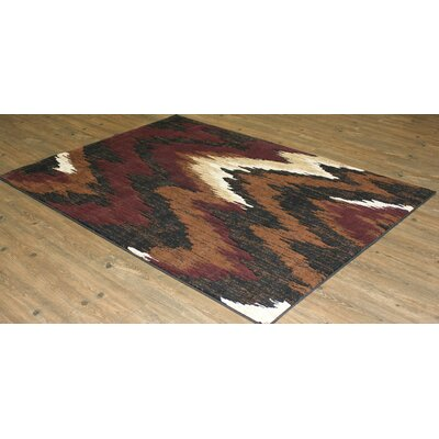 Burman Brown/Black/Red Indoor Area Rug Rug Size: Rectangle 8' x 11'