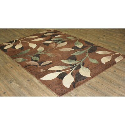 Teasley Contemporary Brown Area Rug