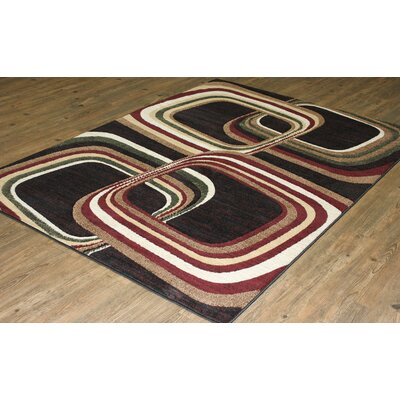 LifeStyle Black/Burgundy Area Rug