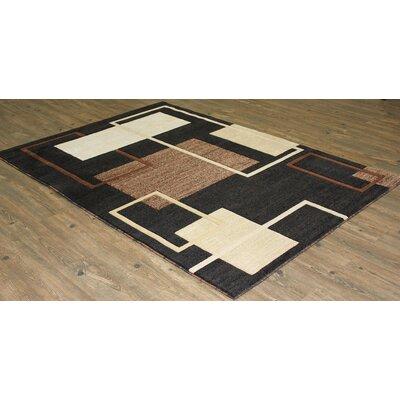 Yarbro Black Indoor Area Rug Rug Size: Rectangle 5 x 8