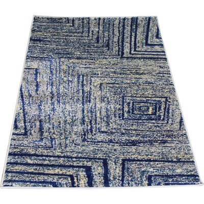 Fusion Yellow/Silver Indoor/Outdoor Area Rug Rug Size: 2 x 3