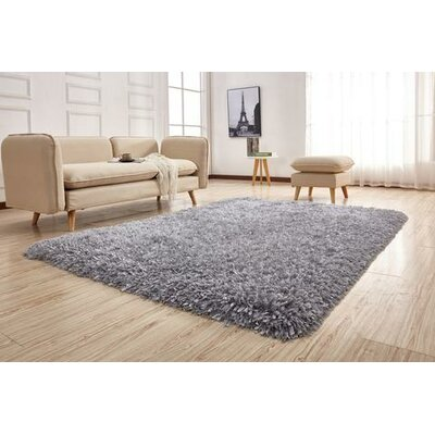 Crystal Shag Vibrant Hand-Tufted Gray Area Rug