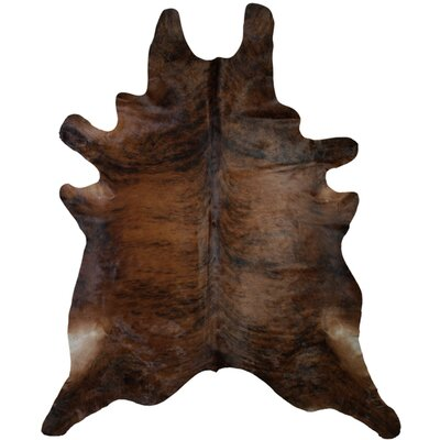 Oscar Cowhide Dark Brown Area Rug