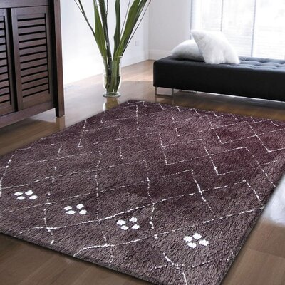 Moro Shag Hand-Tufted Brown Area Rug