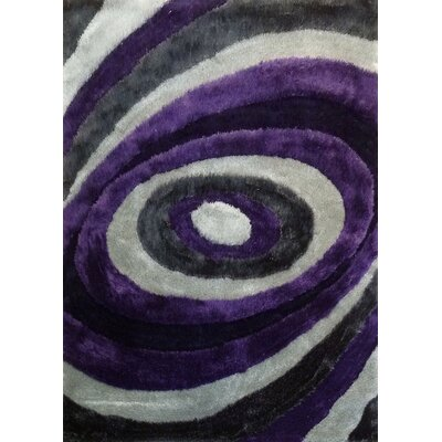 Sheraton Hand-Tufted Gray/Purple Area Rug Rug Size: Rectangle 5 x 7