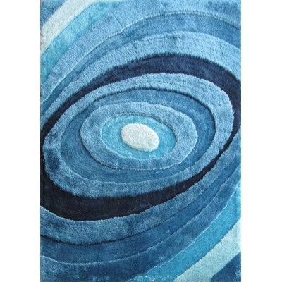 Orme Shaggy Hand-Tufted Turquoise Area Rug Rug Size: Rectangle 5 x 7