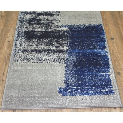 Fusion Turquoise/Silver Indoor/Outdoor Area Rug Rug Size: 2 x 3